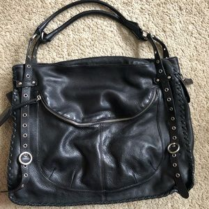 Black Furla bag- soft leather! Perfect condition.